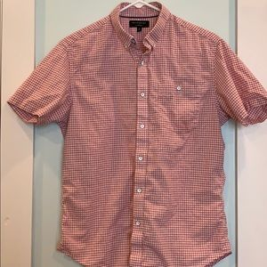 Banana Republic Checkered Short-Sleeved Shirt